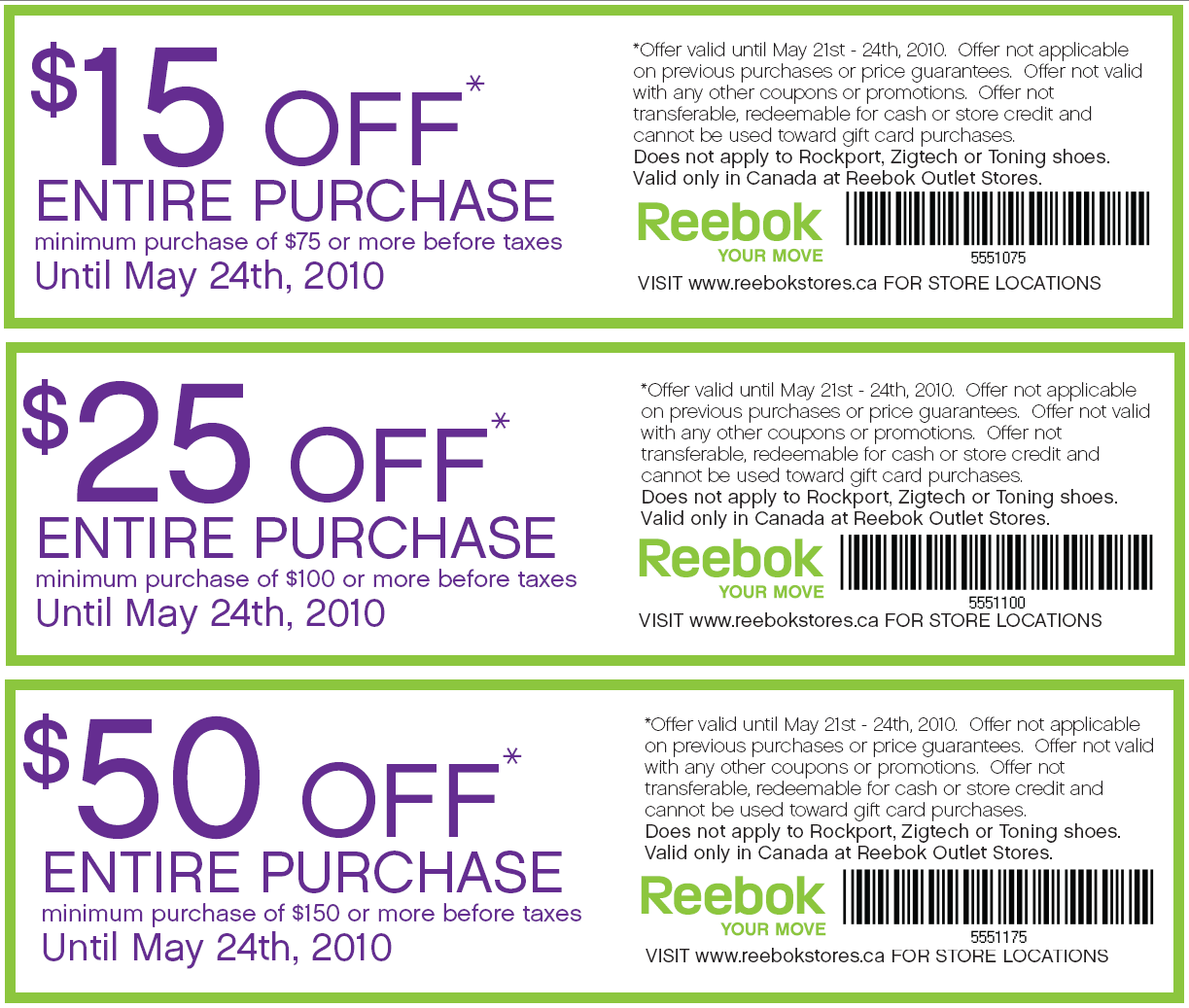 reebok outlet sale coupon